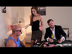 Anal inspectors cram Tina Kay's derriere until she screams & creams to the extreme