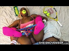 Clip sex Extreme Neck Choking Cute Ebony Babe Rough Sex After Lost Tennis Game , Little Msnovember Pussy Pounding Vaginal Penetration HD Reality On Sheisnovember