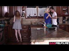 MILF Alura and Dolly enjoy fucking in the kitchen