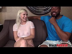Natural big tits Emily surprised with rough BBC...