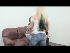 Blonde babe lets her lover fuck another girl