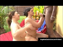 Angelina Castro & Lexxxi Lockhart Double Blow B...