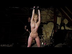 Rough pain in bondage sex for teen slave Candee Licious