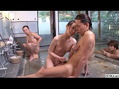 Uncensored JAV Aya Kisaki bathhouse handjob Sub...