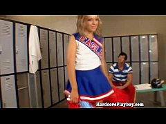 Flexible cheerleader fucks and...