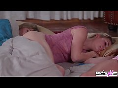Lesbo stepmom almost caught at slumber party
