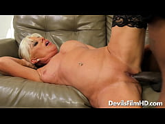 Old blonde Payton Hall fucked by a BBC