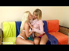Sensual  lesbian sex by Paulina and Gina from Sapphic Erotica - Patio Love