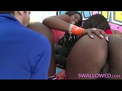 thumb swallowed an a chanell and skyler triple deepthroat time