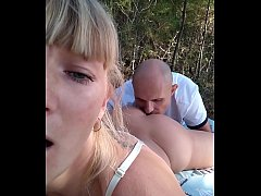 Kinky Selfie - Pussy licking with massive squirt after ass licking. OUTDOOR. RoleplaysCouples