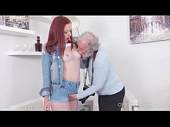 Old Goes Young - Sexy babe obeys old photographer who tells her to undress
