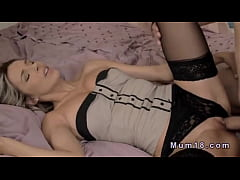Blonde milf in lingerie fucking in bed   XVIDEOSCOM