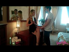 Juicy Blonde Could not Refuse her Lover - Blowj...
