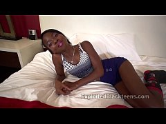 Young Ebony Teen gets...
