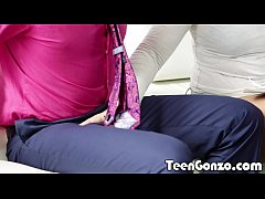 TEENGONZO Chubby blonde teen gets her first bla...
