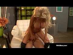 Busty Blonde Nikki Benz Gets Pussy Pounded by B...