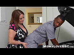 Alluring chubby MILF with big tits interracially fucked