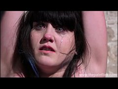 Degrading enslaved maso bitch Louise in bound punishments and rough bdsm of kinky slut in pain