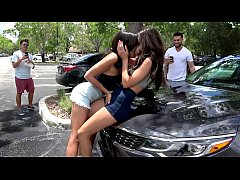 CamSoda - Two Lesbian Teens BUSTED in Public