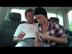 HD Amateur Mother with large breasts Fucking In A Van