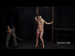 thumb caning the blonde girl