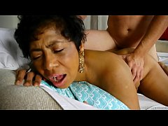 Beautiful busty black old spunker loves cum all...