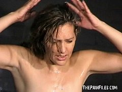 Humiliation and special excercises of enslaved private slave in facial sm