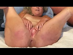 Horny Wife Spreads Her Pussy Lips Wide Fingers ...
