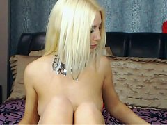 Hot Russian blonde comes on cam