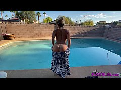 POOL SIDE BJ IN 4K - TheFoxxxLife POV