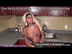 Sheisnovember Topless Mopping In Kitchen & Upsk...
