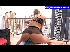 Sexy Blonde Rides Big Cock on Hotel Balcony in Benidorm *** OnlyFans.com\/siswet19