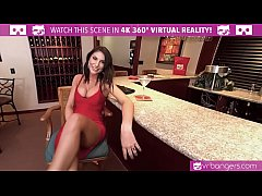 VRBangers.com AUGUST AMES GIVE A WORLD CLASS BLOWJOB AT THE BAR