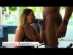 Naughty America - Brooklyn Chase takes black co...
