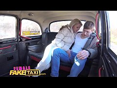Female Fake Taxi Innocent young tourist gets seduced in back of cab