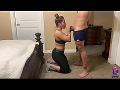 Yoga instructor doesn't  take off her pants to get fucked