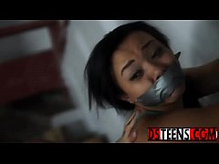 Innocent ebony teen Adriana Maya tastes rough b...
