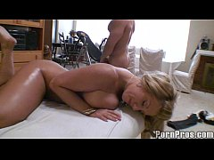 Busty blonde fuck massage...