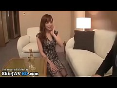 Jav idol black stockings...