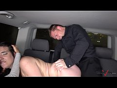 Takevan Foursome in driving car with Mea Melone Wendy Moon & big cock in night