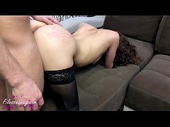 Bunny in Stockings Deep Sucking and Rough Doggystyle - Creampie