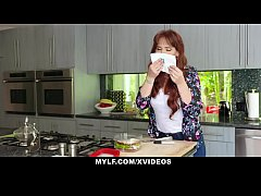 MYLF - Redhead Milf Gives Blowjob To Her Big Dick Stepson