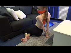 Cobie as babysitter bound and gagged