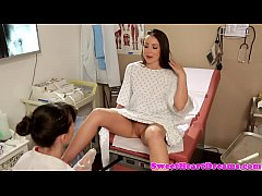 Lesbian doctor fingers tight...