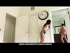 Tiny step sister gets pounded by new boyfriend