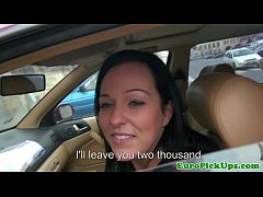 Eurosex girlnextdoor creampied in a car