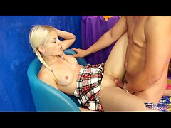Teenyplayground Full mouth of cum for blode sex...