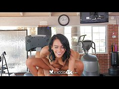 Exotic4K - Time for football kick off with hottie Janice Griffith