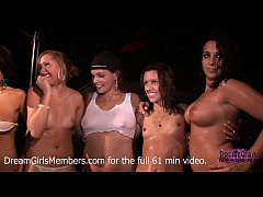 College Girls Get Naked & Eat Pussy On Stage At...