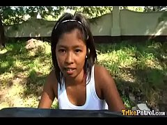 Dark-skinned Filipina girl Trixie picked up by ...